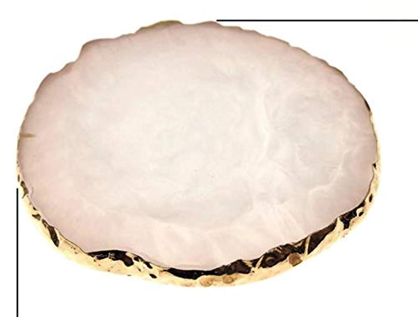 カエルフリンジ分配しますGlitter Powderジェルネイル ホワイト ネイル ジェルネイル パレット プレート ディスプレイ 天然石風 展示用 アゲートプレート デコ アクセサリー ジェルネイル (ホワイト)