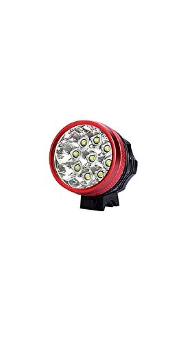備品換気失態SCRT マウンテンバイクライトヘッドライトt6グレア懐中電灯防水と耐衝撃性ナイトライディング機器9 t6ランプビーズ (Color : Red)