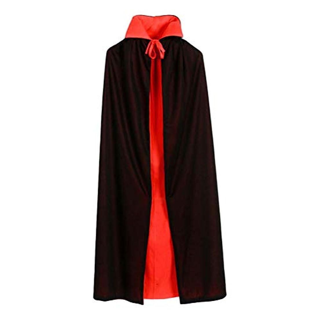 修羅場速報酸化物Toyvian ヴァンパイアマント二重層黒と赤のフード付きマントヴァンパイアコスチュームコスプレケープは男の子と女の子のためにドレスアップ(90cmストレートカラーダブルマント)