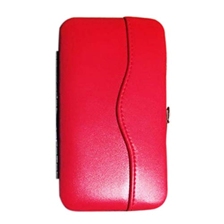 ずるい拳コンプライアンスWadachikis まつげエクステンションピンセットポータブルツールバッグ臨時美しい新プロメークアップツールストレージボックス(None RD)