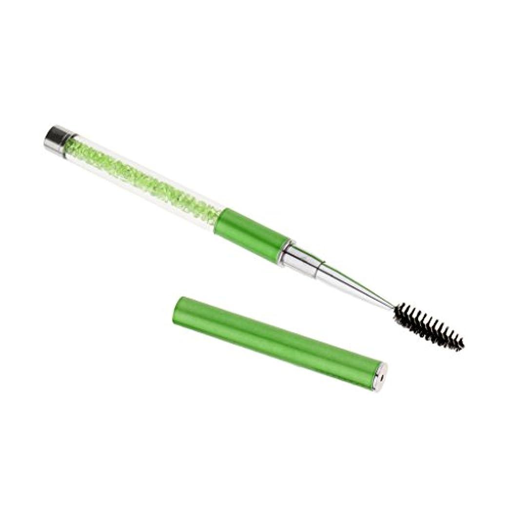 発掘散らすよろめくT TOOYFUL スクリューブラシ まつ毛ブラシ 眉毛 まつ毛 ブラシ 化粧用ブラシ 再使用可能 全6色 - グリーン