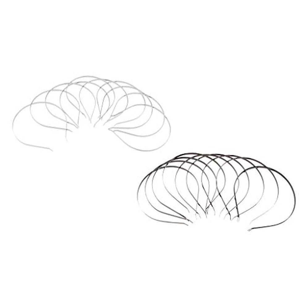 試験健全レジ20ピース/個PLAIN METAL HEADBAND HAIR BAND FRAME HAIR HOOP ACCESSORIESに適用DIY CRAFTS