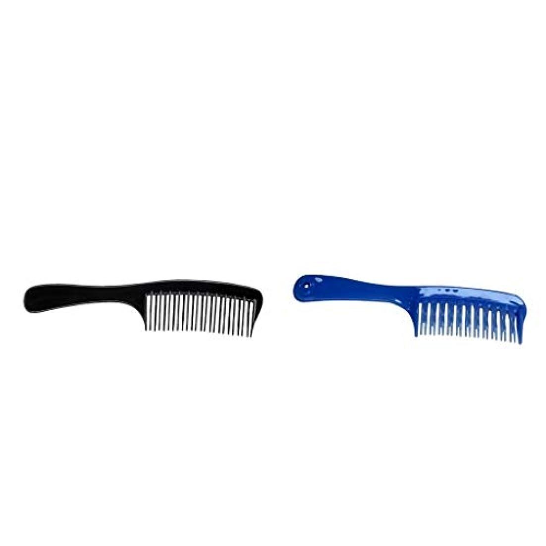 出口耕す不健全Toygogo 理髪店大きいDetanglerのもつれを解く毛の櫛、二重湾曲した歯の櫛様式、耐久のプラスチック、抵抗力がある漂白剤の色