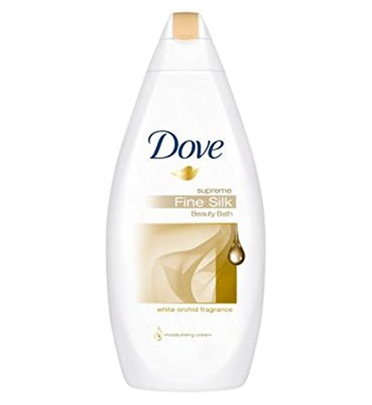 書店出発するパトロン鳩最高の細かい絹クリームバスの500ミリリットル (Dove) (x2) - Dove Supreme Fine Silk Cream Bath 500ml (Pack of 2) [並行輸入品]