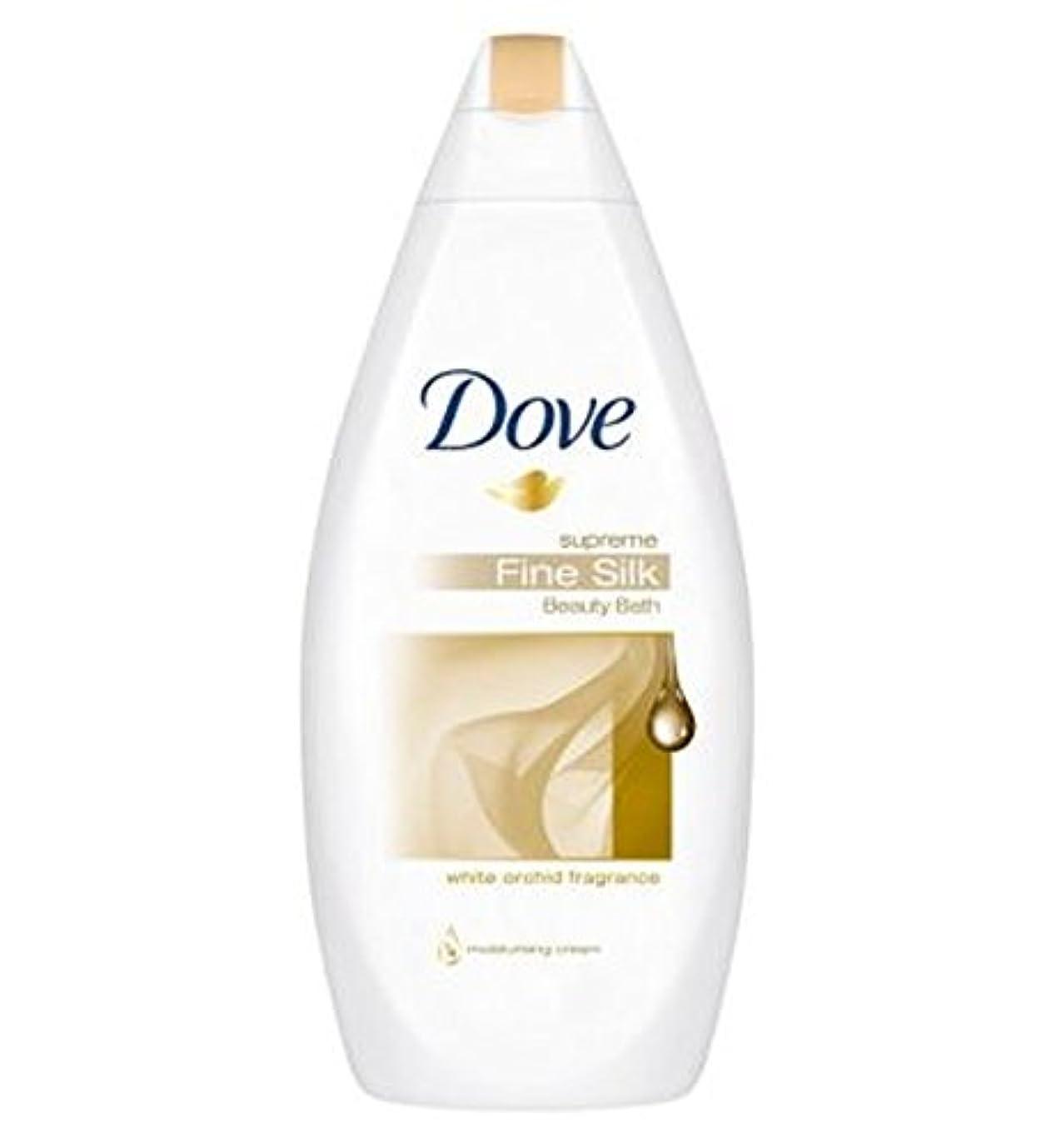 座る永久やろう鳩最高の細かい絹クリームバスの500ミリリットル (Dove) (x2) - Dove Supreme Fine Silk Cream Bath 500ml (Pack of 2) [並行輸入品]