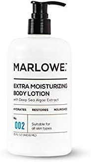 MARLOWE. 002 Extra Moisturizing Body Lotion 15 oz | Daily Lotion for Dry Skin for Men and Women | Light Fresh Scent | Made w