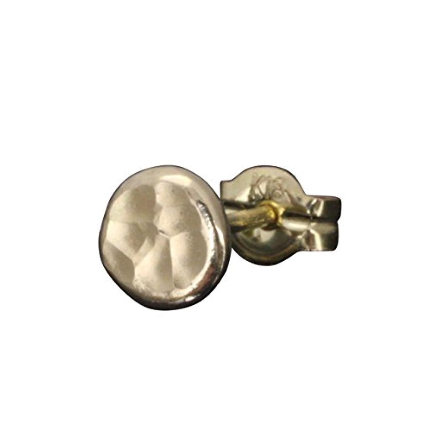 命令的天文学アラブ人龍頭 丸 鎚目 ピアス K18 18金 ゴールド シングル 片耳 槌目 メンズ