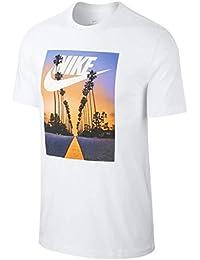 (NIKE)ナイキ SUNSET PALM Tシャツ (100)ホワイト Tシャツ(BQ0716)