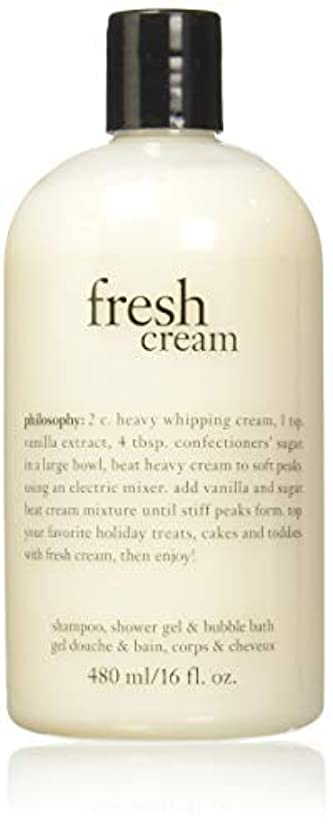 クリップ蝶年雇用者Philosophy Fresh Cream Shampoo, Shower Gel & Bubble Bath for Unisex, 16 Ounce