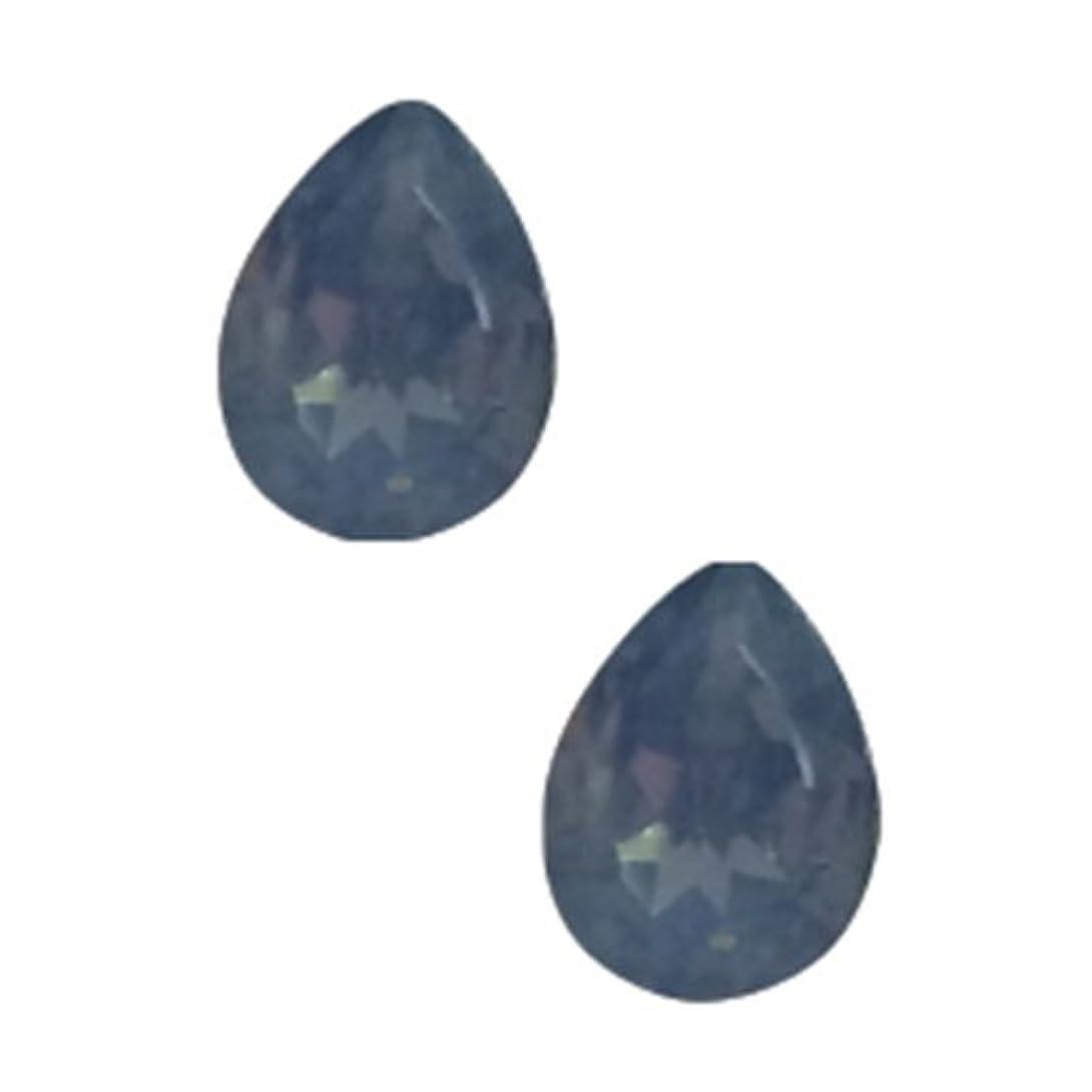 糞安らぎ支店POSH ART ネイルパーツ涙型 4*6mm 10P ブルーオパール