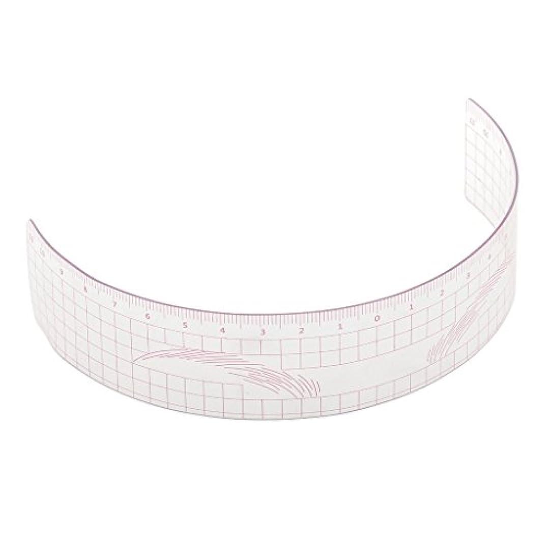 ひいきにする兵隊東眉毛の定規 眉毛ステンシル 眉毛ルーラー 測定用 ルーラー マイクロブレード 再利用可能 全3色 - ピンク