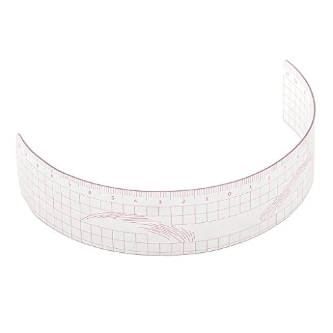一緒泣き叫ぶ床眉毛の定規 眉毛ステンシル 眉毛ルーラー 測定用 ルーラー マイクロブレード 再利用可能 全3色 - ピンク