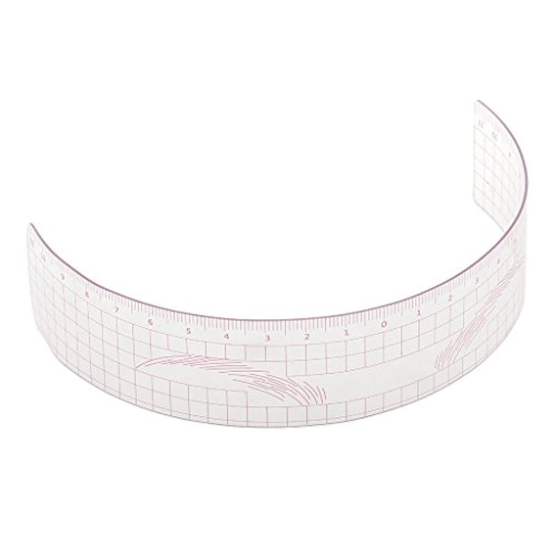 シェトランド諸島一族コック眉毛の定規 眉毛ステンシル 眉毛ルーラー 測定用 ルーラー マイクロブレード 再利用可能 全3色 - ピンク
