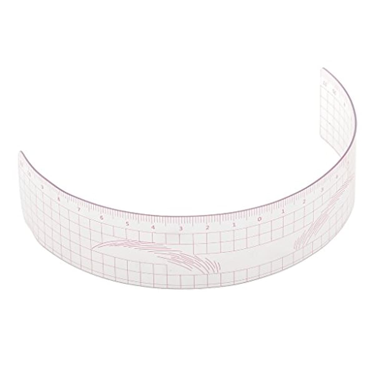 有効スピーカー硬いP Prettyia 眉毛の定規 眉毛ステンシル 眉毛ルーラー 測定用 ルーラー マイクロブレード 再利用可能 全3色 - ピンク