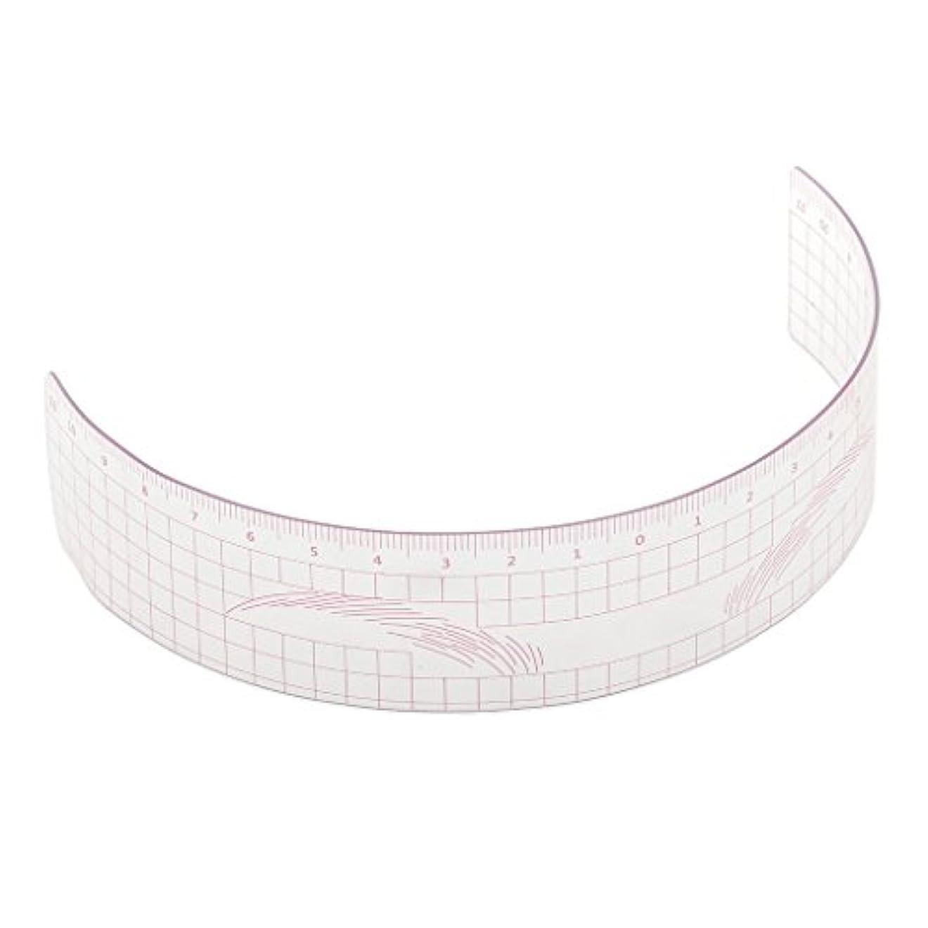 コマース時系列ぜいたく眉毛の定規 眉毛ステンシル 眉毛ルーラー 測定用 ルーラー マイクロブレード 再利用可能 全3色 - ピンク
