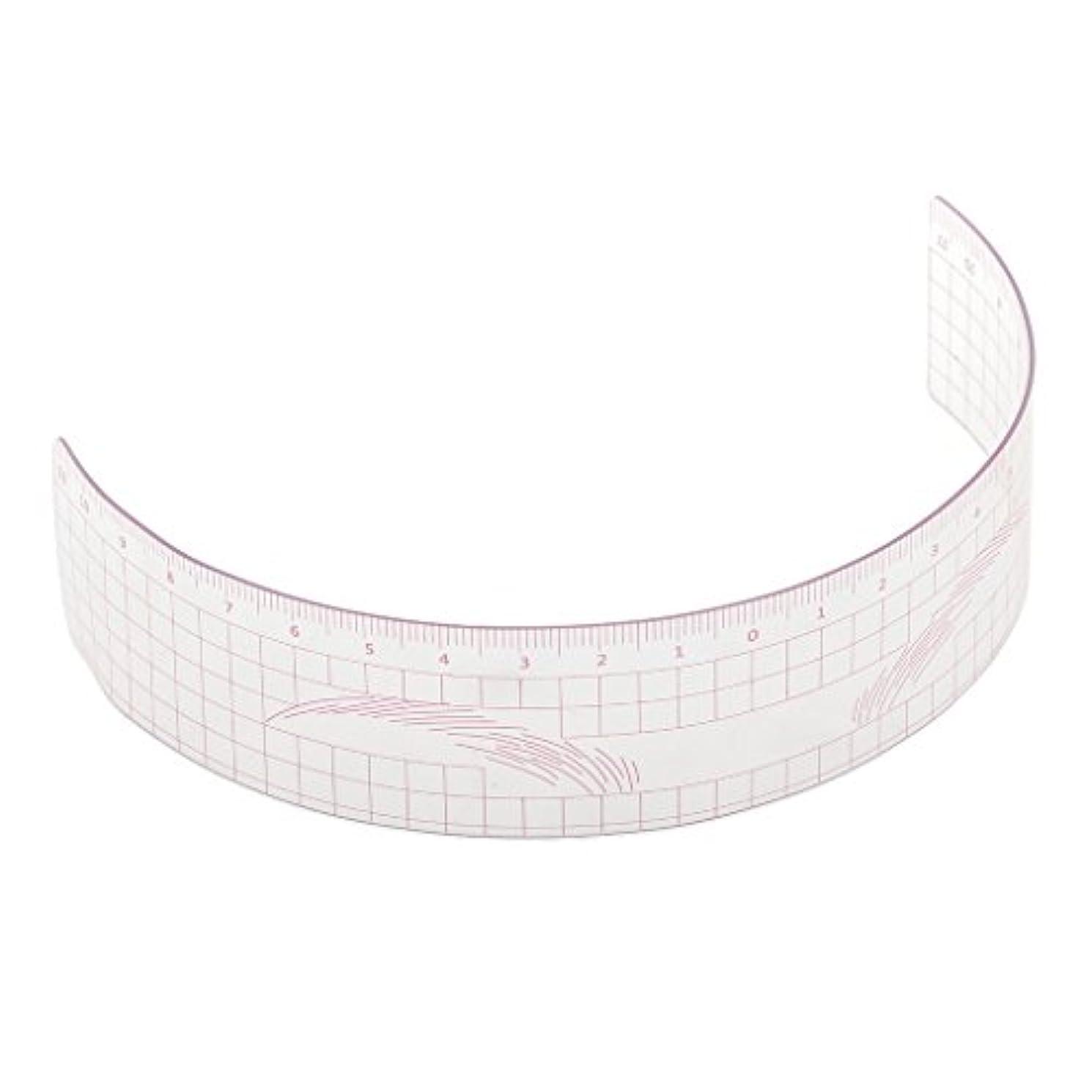 遺産ピカソ無許可P Prettyia 眉毛の定規 眉毛ステンシル 眉毛ルーラー 測定用 ルーラー マイクロブレード 再利用可能 全3色 - ピンク