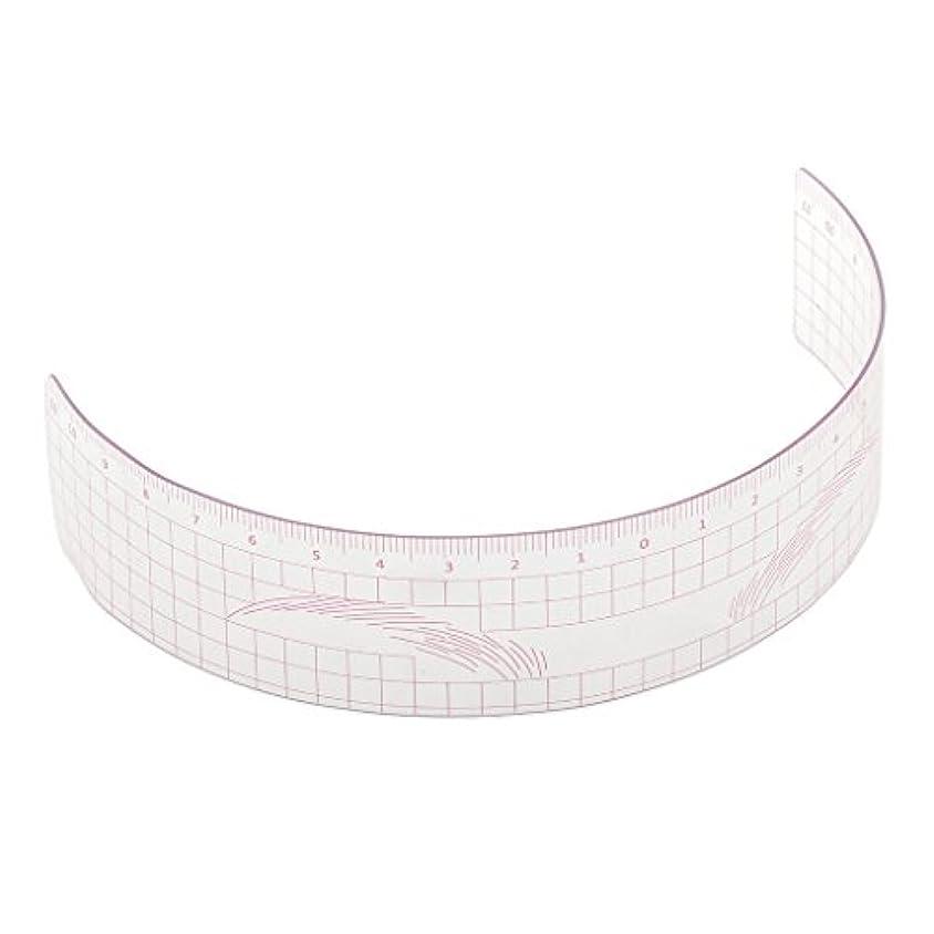 反逆者殺人ロンドン眉毛の定規 眉毛ステンシル 眉毛ルーラー 測定用 ルーラー マイクロブレード 再利用可能 全3色 - ピンク