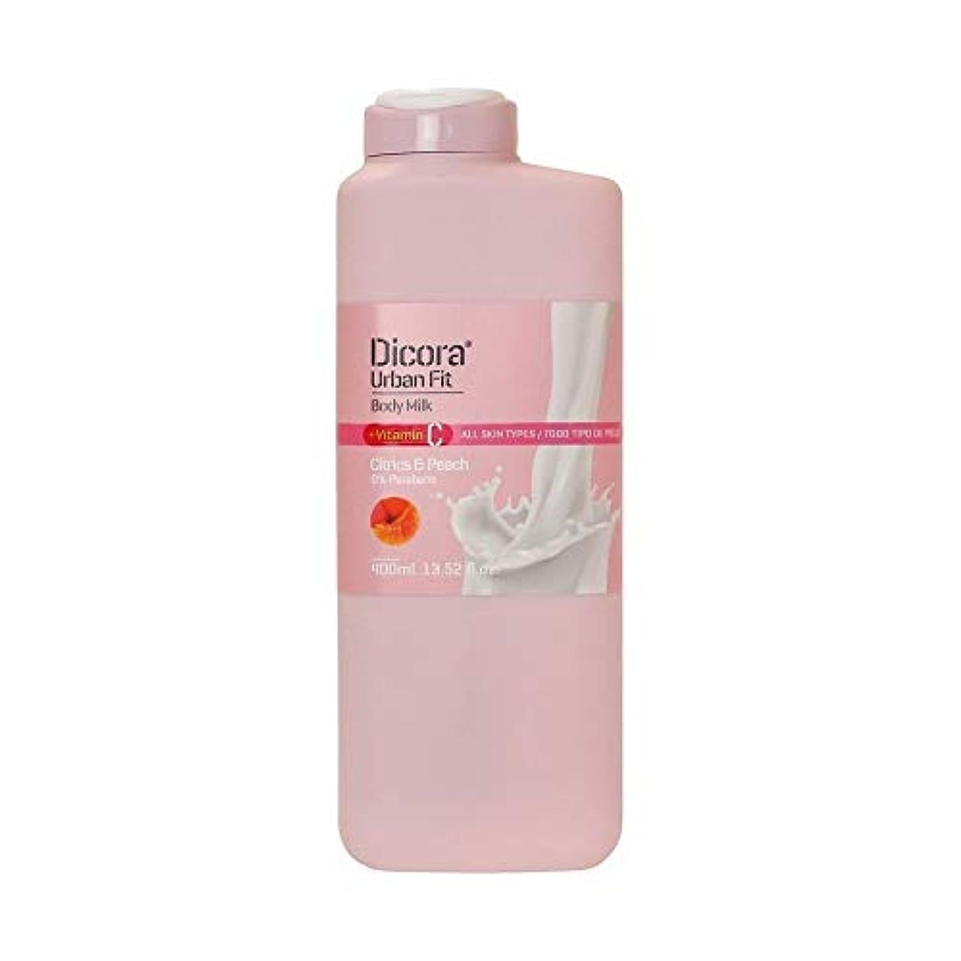 お金ゴム燃料検証Dicora(ディコラ) ディコラ アーバンフィット シャワージェル MK&ML 400ml ボディクリーム シトラス & ピーチの香り