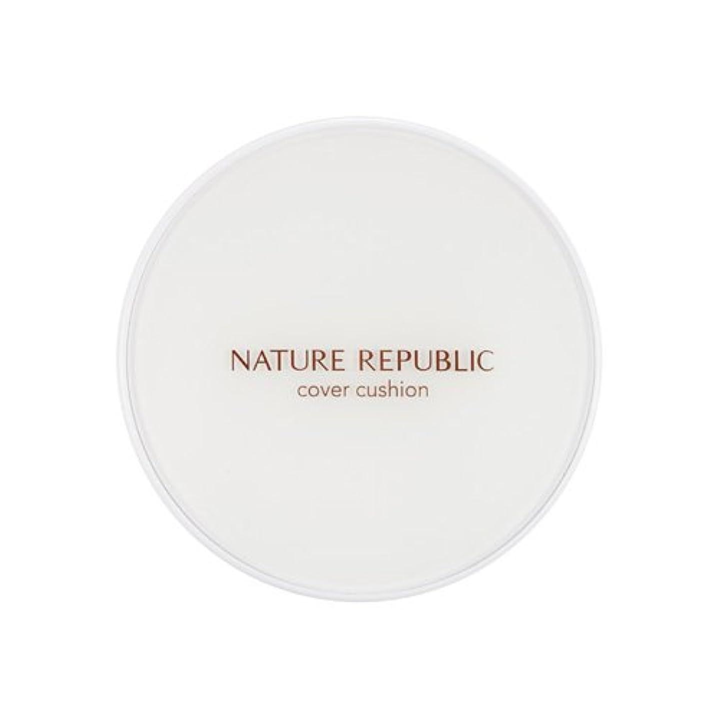 以降第九書道[Outlet] NATURE REPUBLIC Nature Origin Cover Cushion (01 Light beige) (SPF50+ PA+++) [並行輸入品]