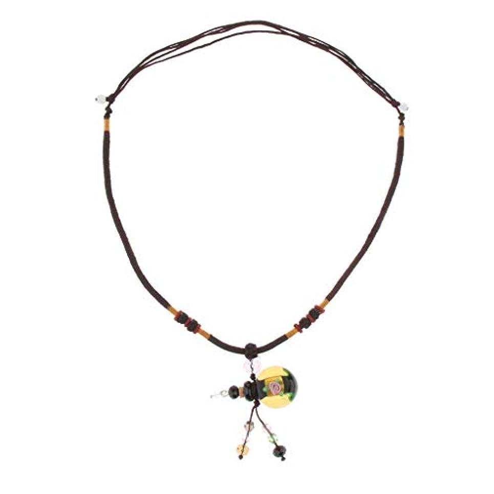 アンタゴニスト平行申し立てられたPerfeclan 香水ネックレス ミニ グラスロケット ネックレス 香水ディフューザー 4色選べ - 緑