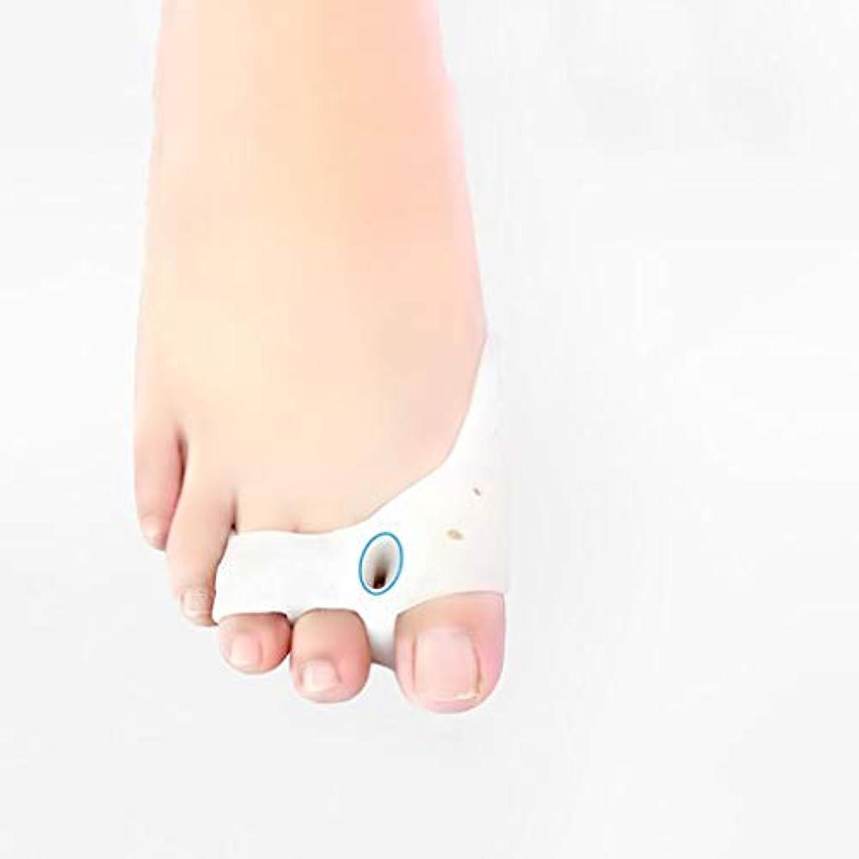 メルボルン起業家六親指アライナジェル外反母趾大きな足のつま先ブレースつま先日常用 窓の外の小雨
