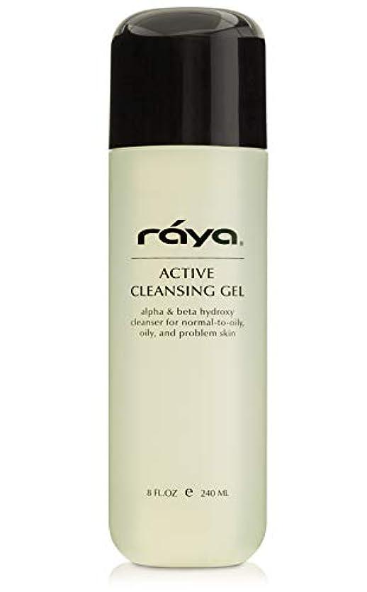 偏差コール断片Raya AHAとBHA (G-107)とアクティブ洗顔ジェル|オイルフリーとオイリーとブレイクアウトスキン用エクスフォリエイティングディープ毛穴クレンザージェル|アルファおよびベータヒドロキシ酸で作られました 8 fl-oz