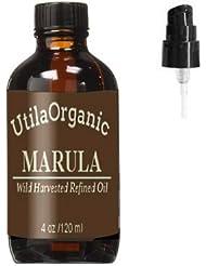 お得な大容量!マルラオイル (精製オイル)120ml ポンプ付き 遮光瓶 Refined Marula Oil 100% pure and natural
