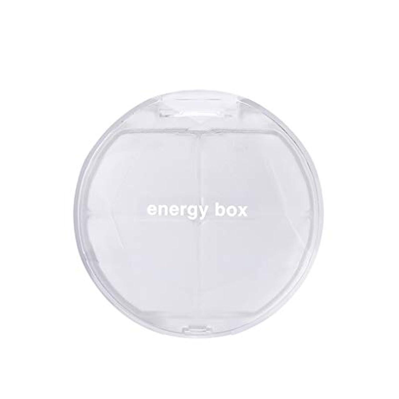 コンチネンタル巨大相手ピルボックスポータブル調剤小ピルボックス一週間旅行携帯用薬シール薬収納薬箱 LIUXIN (Color : White, Size : 7.3cm×7.3cm×2.3cm)