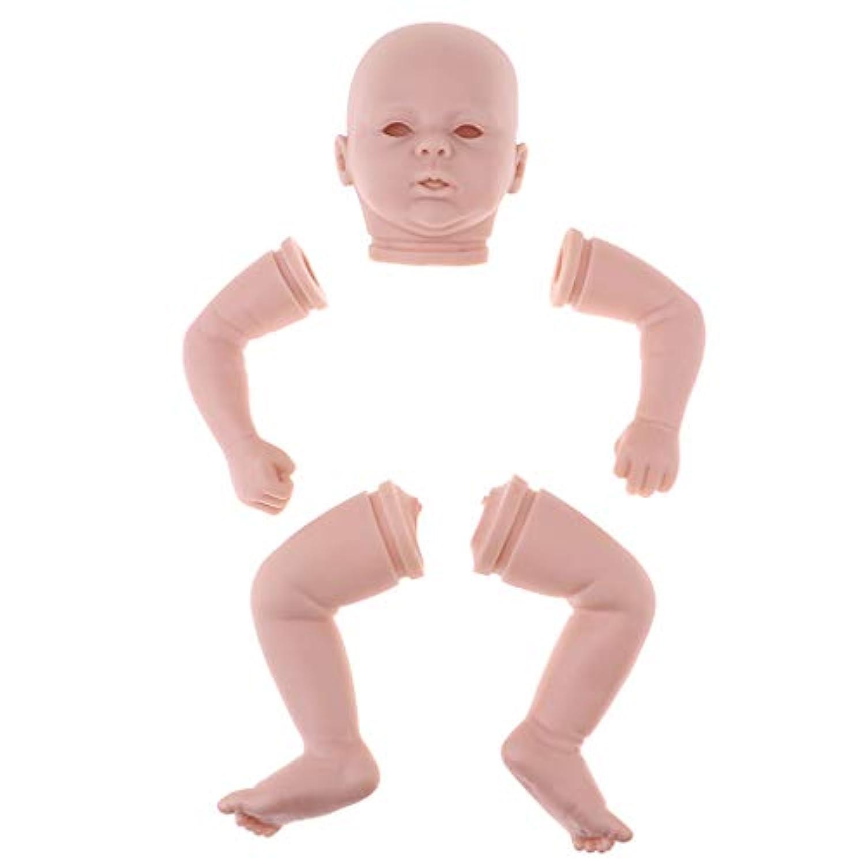 perfk ドール人形パーツ 頭部 腕 足 リボーン新生児ドール用 DIYアクセサリー 3色選択 - #2