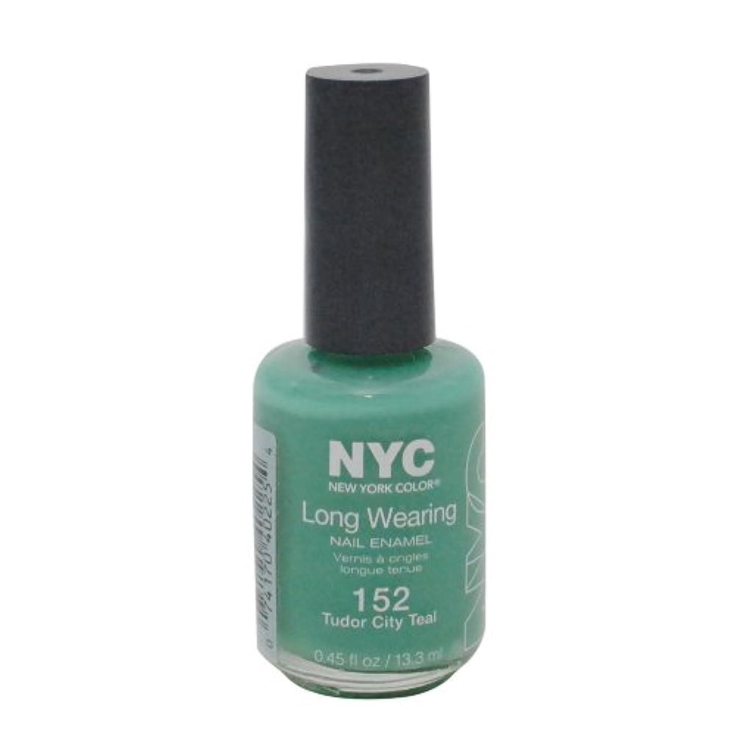 旧正月滑り台リンクNYC Long Wearing Nail Enamel - Tudor City Teal by NYC New York Color