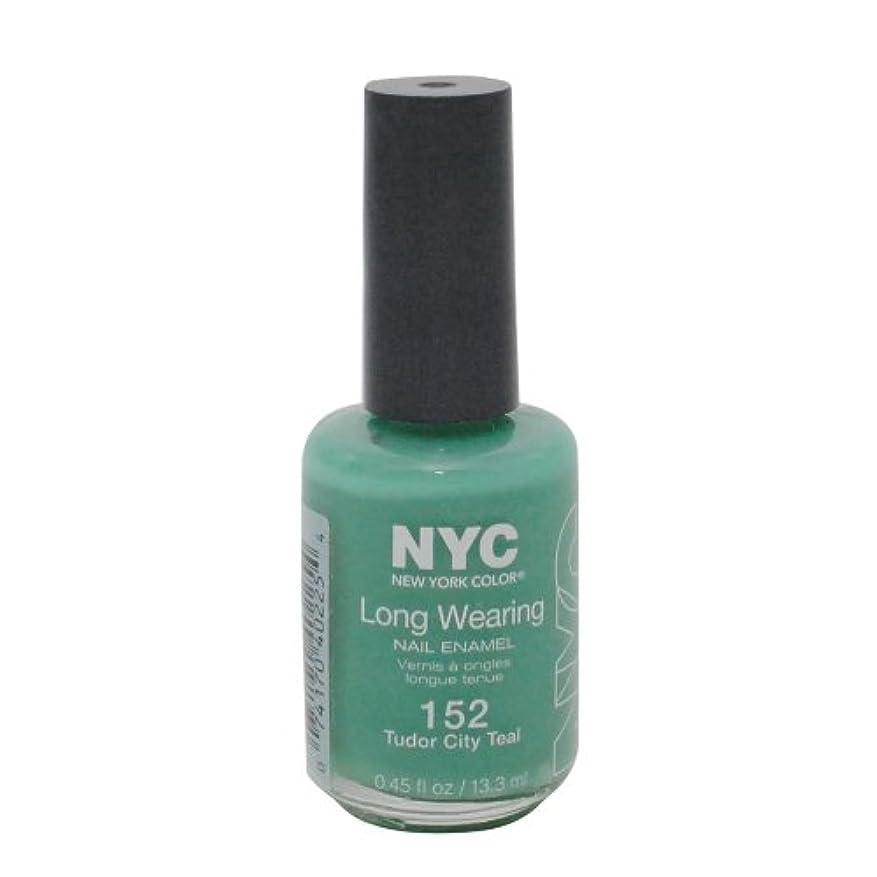 リースとして怒りNYC Long Wearing Nail Enamel - Tudor City Teal by NYC New York Color