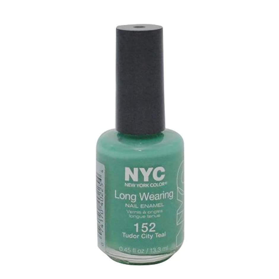 瞬時にスピン可決NYC Long Wearing Nail Enamel - Tudor City Teal by NYC New York Color