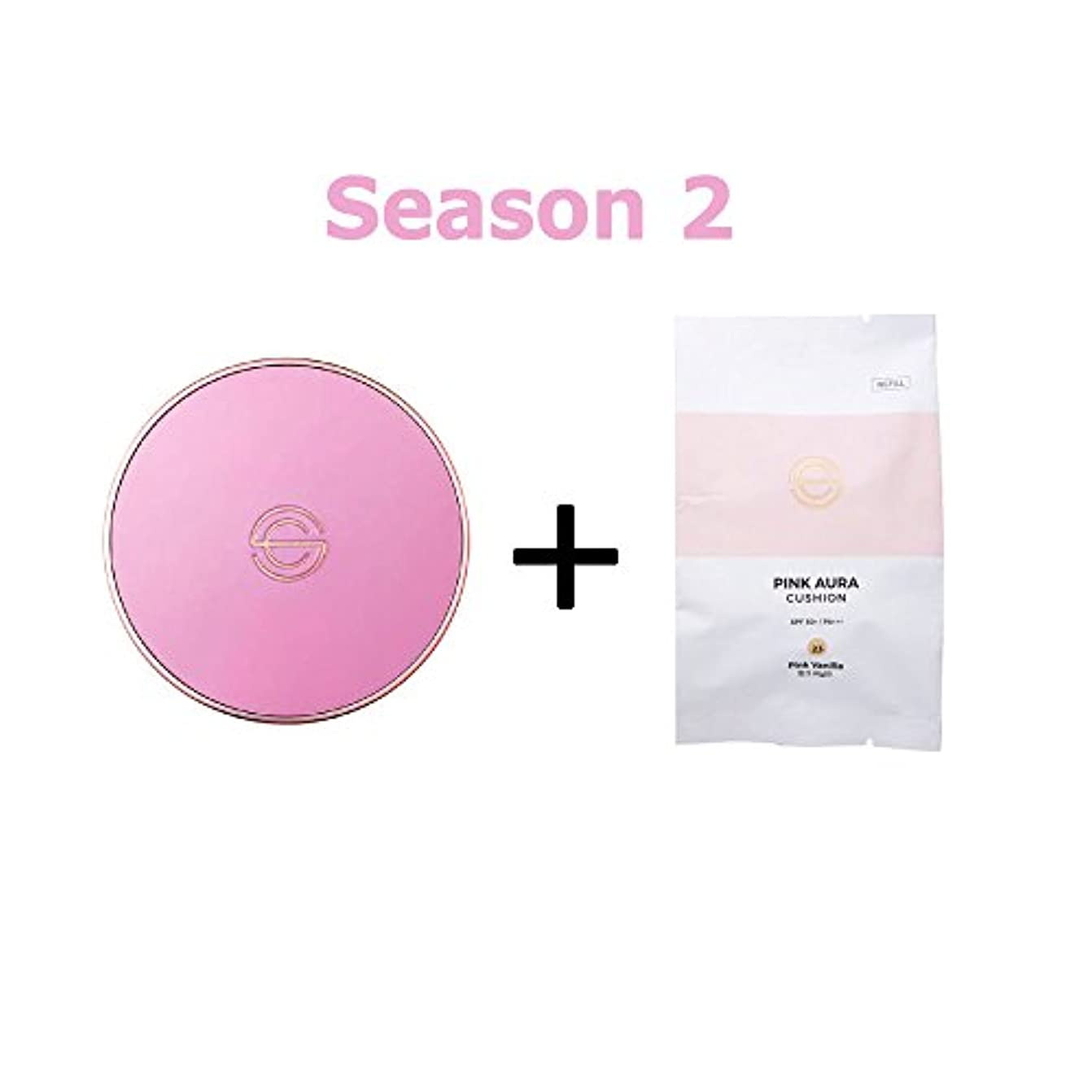 怒っている暗黙不幸[Season 2] DPC Pink Aura Cushion 15g + Refill 15g/DPC ピンク オーラ クッション 15g + リフィル 15g (#23 Pink Vanilla) [並行輸入品]