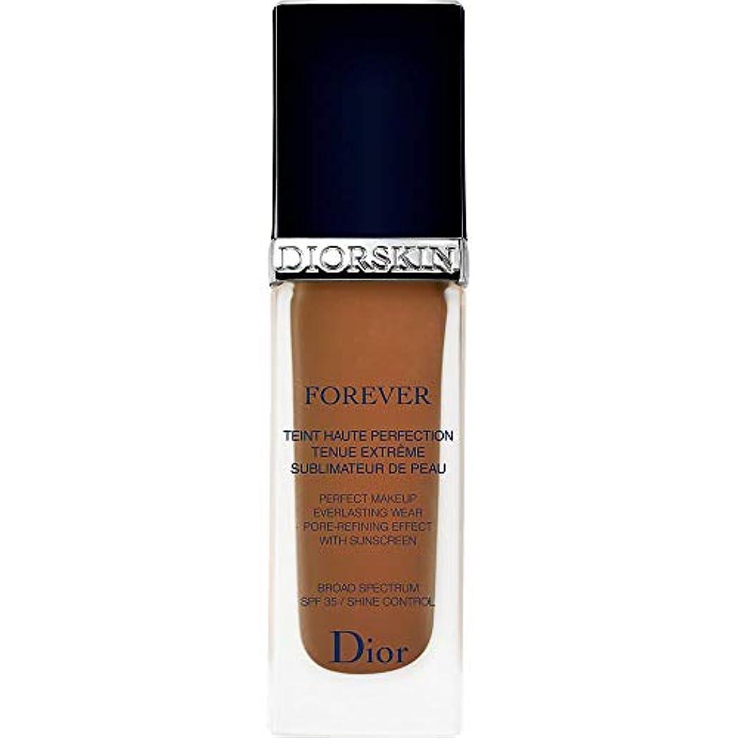 弾力性のある工夫する気取らない[Dior ] ディオールディオールスキン永遠基礎Spf35 30ミリリットル070 - ダークブラウン - DIOR Diorskin Forever Foundation SPF35 30ml 070 - Dark...
