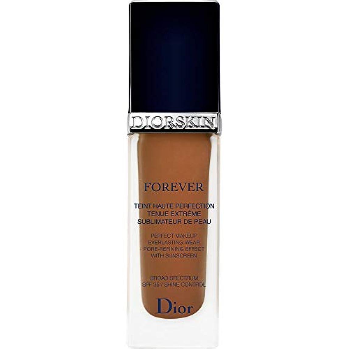 バーチャルの間でフェードアウト[Dior ] ディオールディオールスキン永遠基礎Spf35 30ミリリットル070 - ダークブラウン - DIOR Diorskin Forever Foundation SPF35 30ml 070 - Dark...