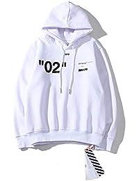 OFF-WHITE オフホワイト  02  男女兼用パーカー 2色フード付き 長袖 カジュアル [並行輸入品]