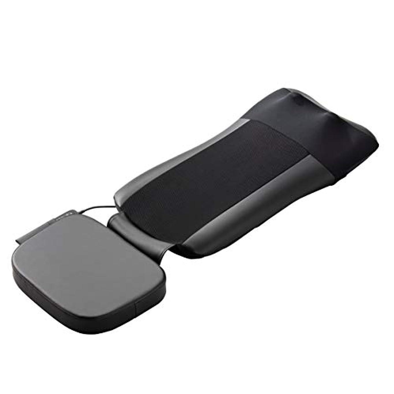 ロードされたドメイン看板スライヴ マッサージシート 【通販専用モデル】 寝て使用可能 たたき機能搭載 ストレッチコース付き ブラック MD-8671 BK