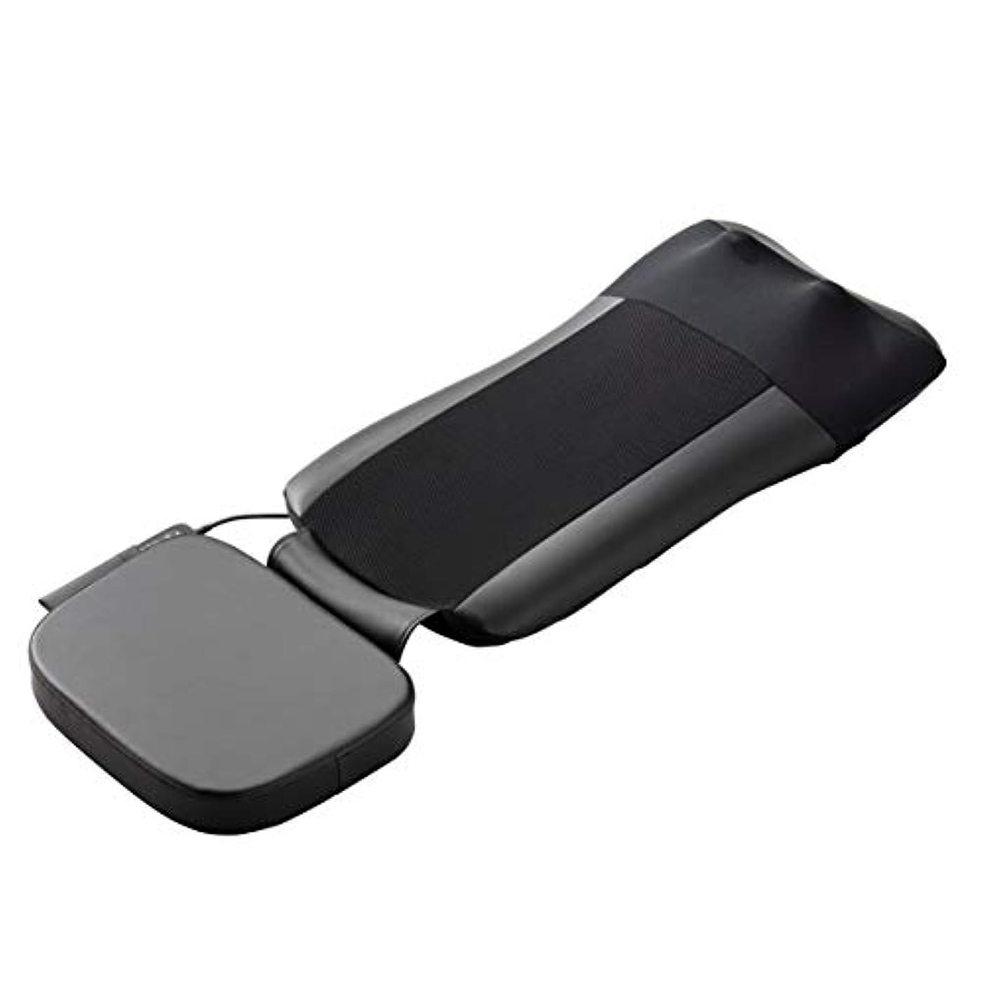 目立つ針酸化するスライヴ マッサージシート 【通販専用モデル】 寝て使用可能 たたき機能搭載 ストレッチコース付き ブラック MD-8671 BK