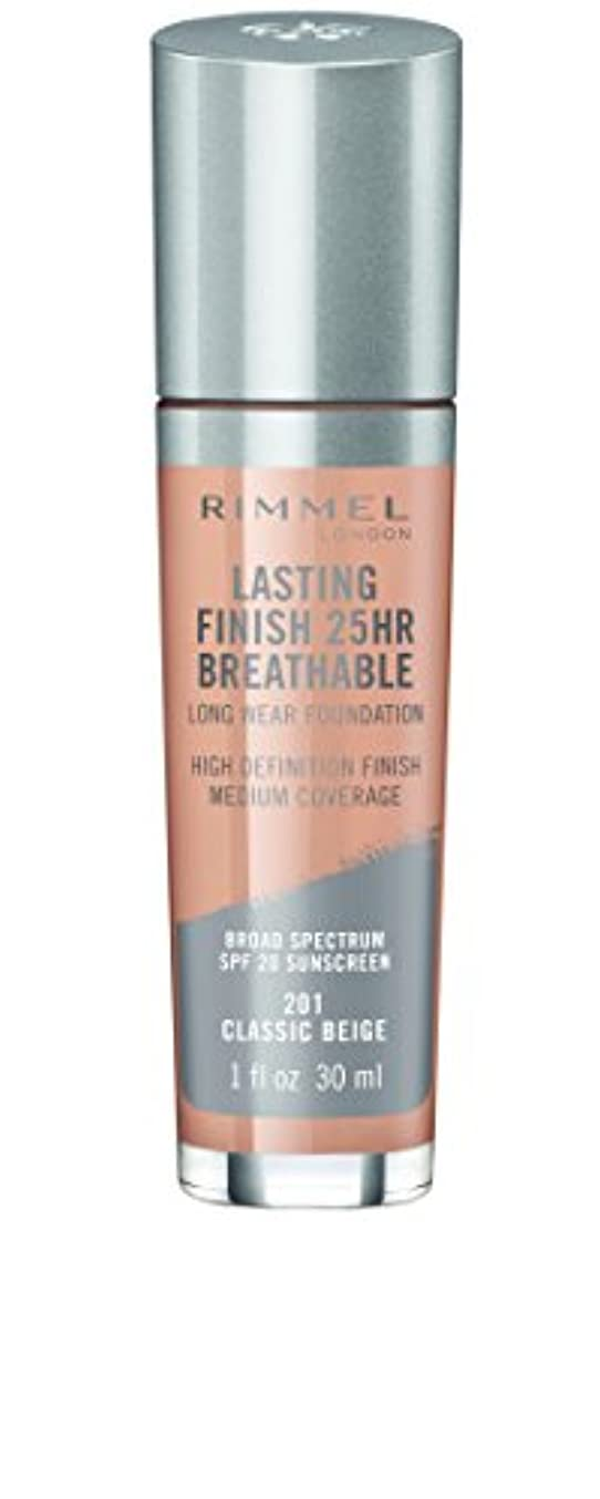 桃見る人イルRIMMEL LONDON Lasting Finish 25hr Breathable Foundation - Classic Beige (並行輸入品)
