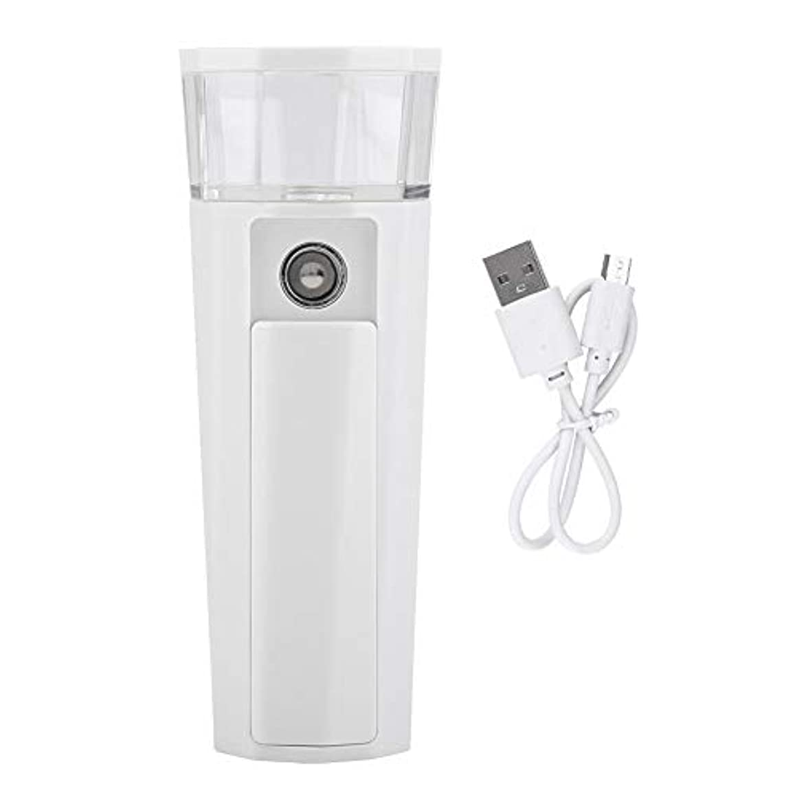肉のワックスメカニック顔面噴霧器、2 in 1多機能ハンドヘルド顔面加湿器ポータブルミスター噴霧器USBパワーバンク、軽量
