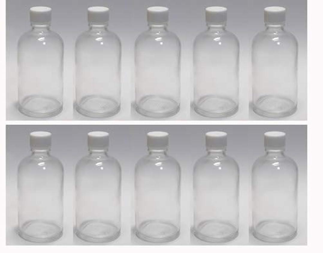 その後他のバンドで警告100ml ガラスボトル(空容器) 10本