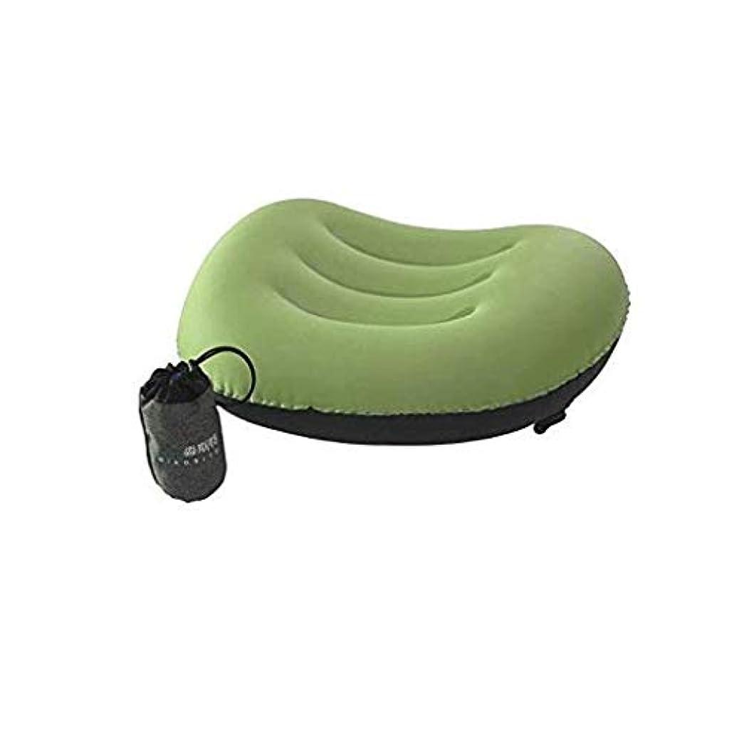晩餐コンパニオンシャックルSZR 超軽量膨らまトラベル/キャンプ枕 - ネック&ランバーサポートのための圧縮性、コンパクト、インフレータブル、快適な、人間工学に基づいて設計枕 (Color : Green)