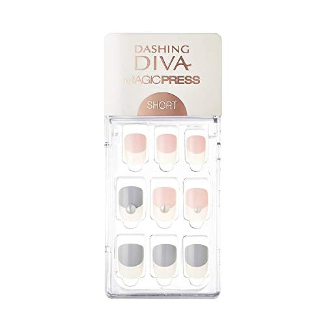 赤字ポインタ米国ダッシングディバ マジックプレス DASHING DIVA MagicPress MDR247SS-DURY+ オリジナルジェル ネイルチップ Baby Latte