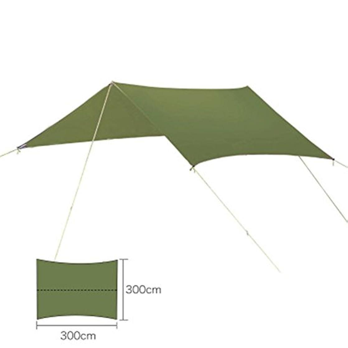 提案する汚物定義300 x 300 cmキャンプテントポータブル軽量ハンモックレインフライテントキャノピーキャンプの間(グリーン)