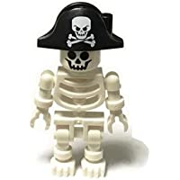 LEGOブロック?純正パーツ<ミニフィグ>skeleton スケルトン(スウィングアーム/海賊帽) (1個, White) [並行輸入品]