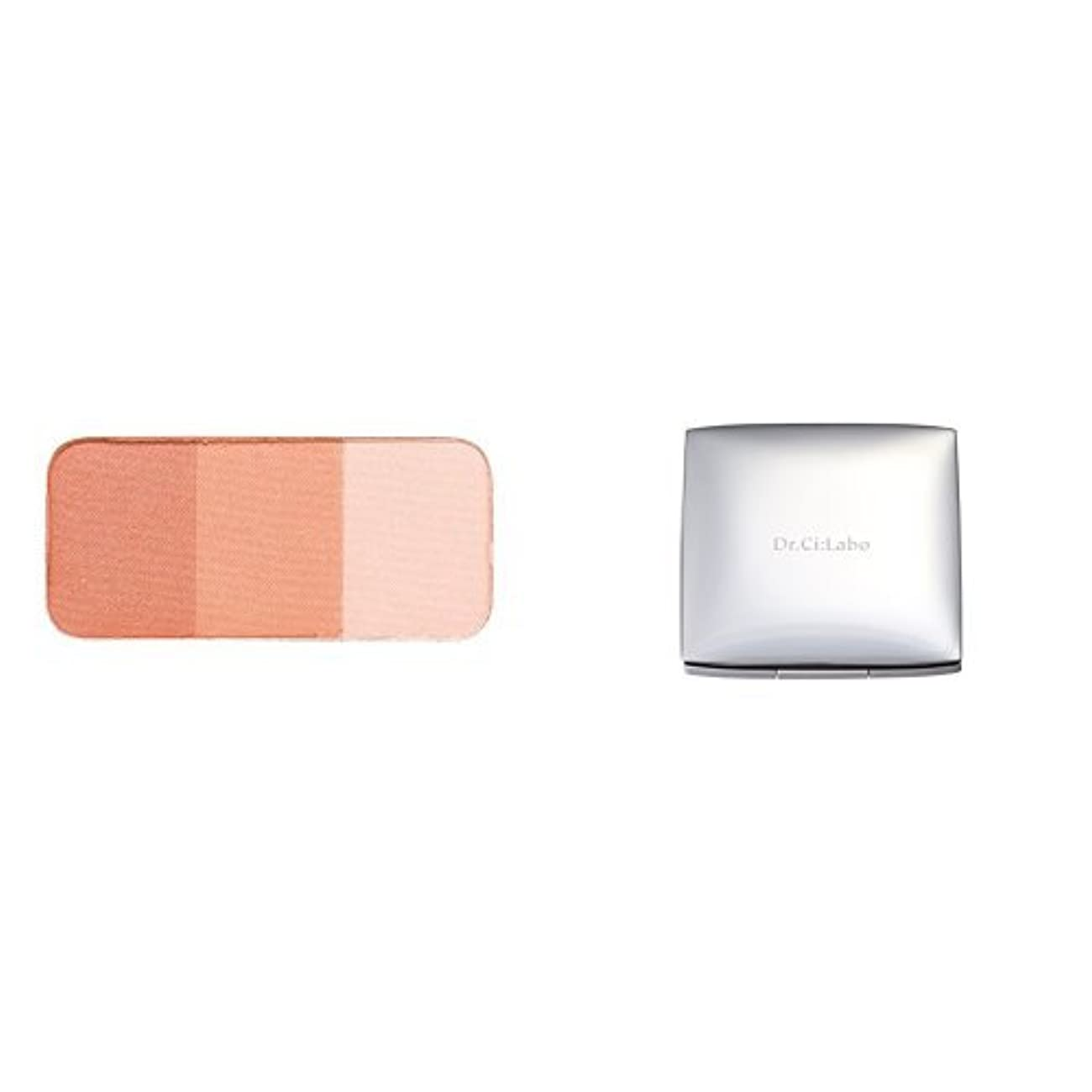 手つかずの傾く口【セット買い】ドクターシーラボ チークカラー オレンジ 3色セット&ケース