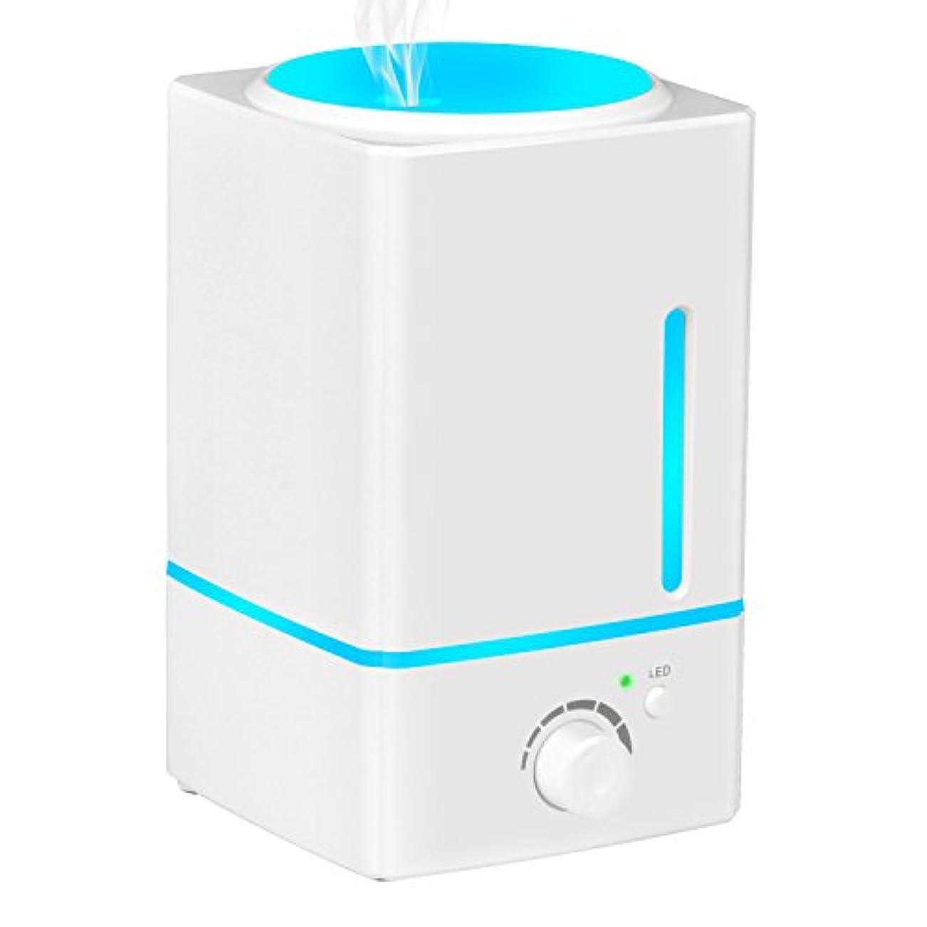 灰発明ログAromatherapy Essential Oil Diffuser加湿器、olivetech 1500 ml超音波クールなミスト加湿器with LEDライトの色変更と自動遮断forホームオフィス寝室
