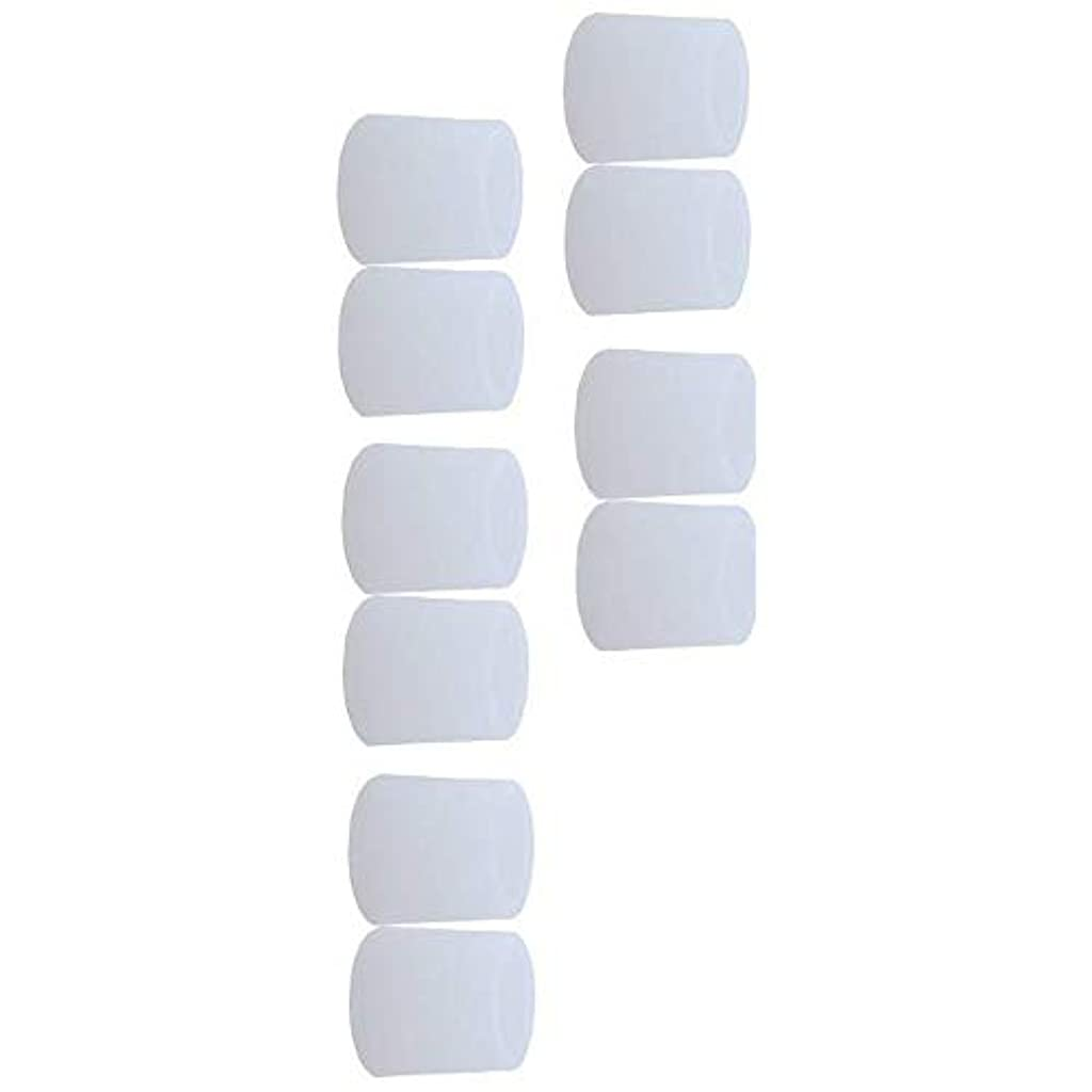 リマークコスチューム混合した5ペア白い 足 指 キャップ足の小指保護足指 足爪 保護キャップ 小指