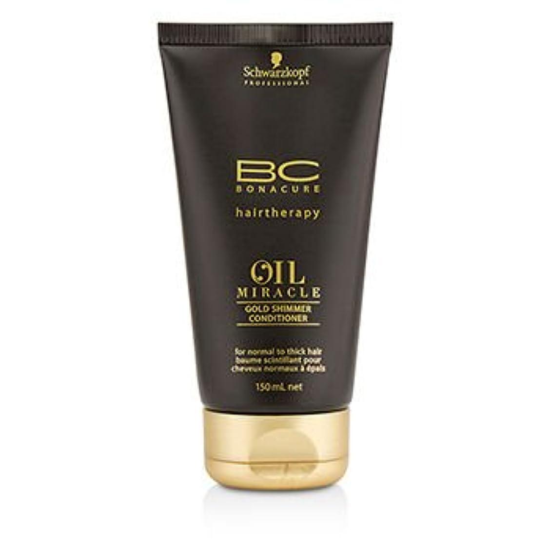 常に完全に冷笑する[Schwarzkopf] BC Oil Miracle Gold Shimmer Conditioner (For Normal to Thick Hair) 150ml/5oz