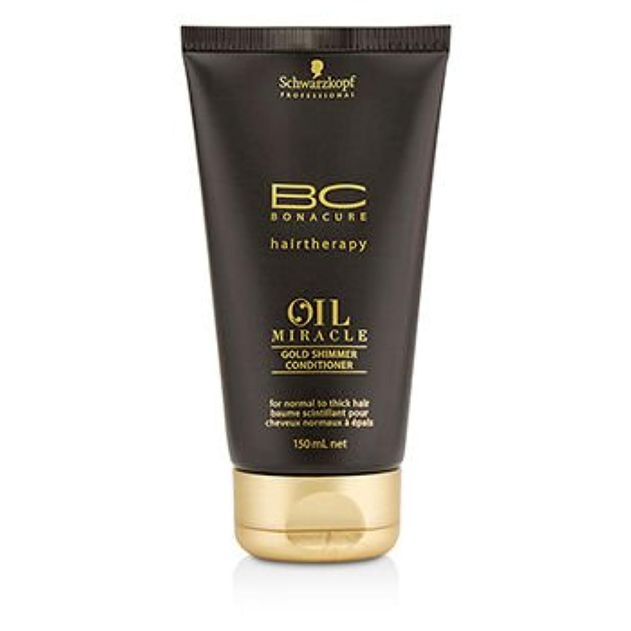 書誌最大ぶら下がる[Schwarzkopf] BC Oil Miracle Gold Shimmer Conditioner (For Normal to Thick Hair) 150ml/5oz